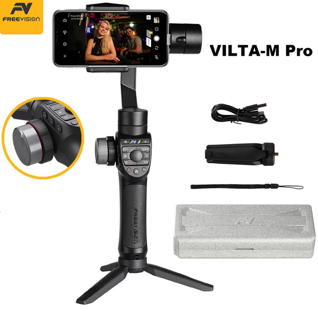 In Stock Freevision Vilta M Pro 3 Axis Handheld Gimbal Smartphone Stabilizer for Huawei P30 Pro IPhone X XS Samsung Gopro 5/6/7