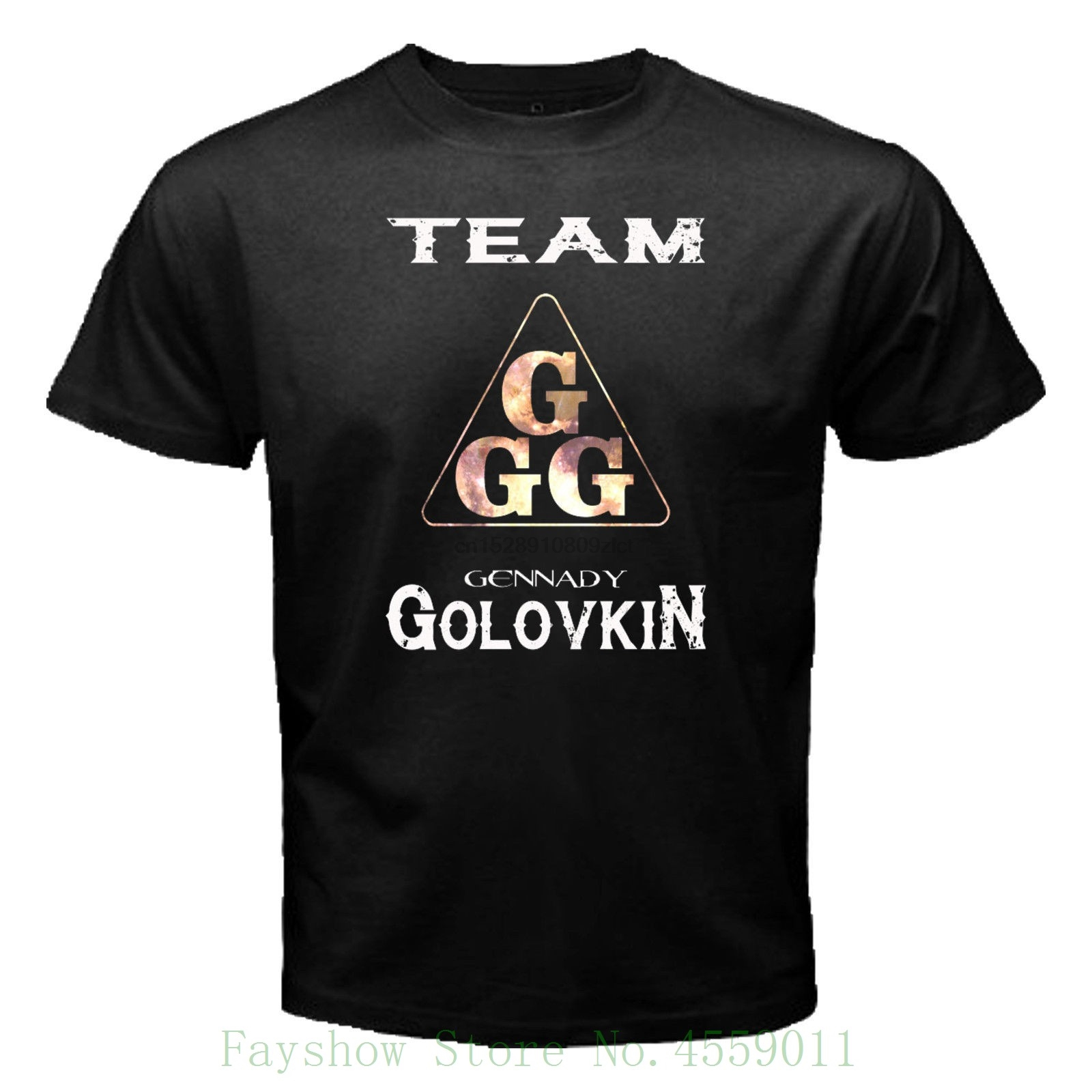#new Ggg Black T Shirt Boxer Trend Gennady Golovkin Martial Artist Size S To 3xl Simple Short-sleeved Cotton T-shirt
