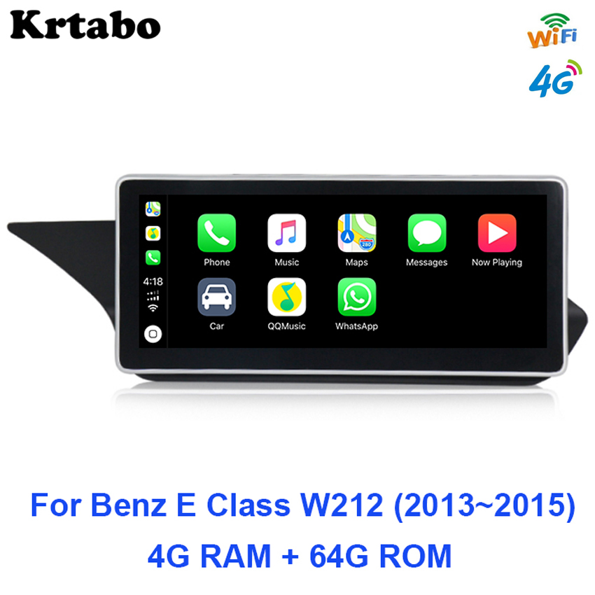 4G Car radio <font><b>Android</b></font> multimedia player For Mercedes <font><b>Benz</b></font> E Class <font><b>W212</b></font> 2013 2014 2015 10.25 inch Octa core GPS Carplay image