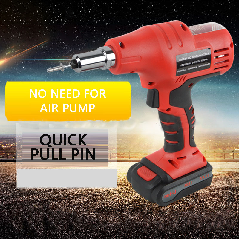 Hand Held Rechargeable Rivet Gun Pull Out Gun Aluminum Iron Stainless Steel Rivet Gun Solid Pull Rivet Gun