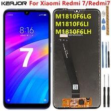 Ekran Xiaomi Redmi için 7 Lcd ekran test Lcd ekran + dokunmatik ekran için çerçeve ile yedek Redmi7 M1810F6LI M1810F6LG