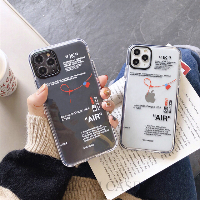 Hot Off Street sport Trend Brand clear Soft Silicon phone case for iPhone 11 Pro X XS MAX 12 mini 7 8 plus ins white label Cover 1