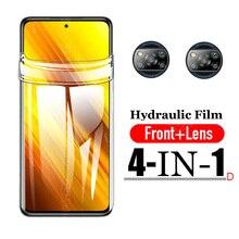 For Xiaomi Poco X3 Hydrogel Film Poco X3 NFC Screen Protector on Xaomi Little Pock Poco X3 Camera Glass Protective x3nfc Film