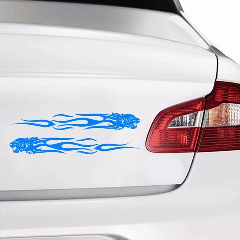 Image 4 - Yiwa Unique Tiger Flame Totem Decal Reflective Car Sticker Car Styling Sticker-in Car Stickers from Automobiles & Motorcycles