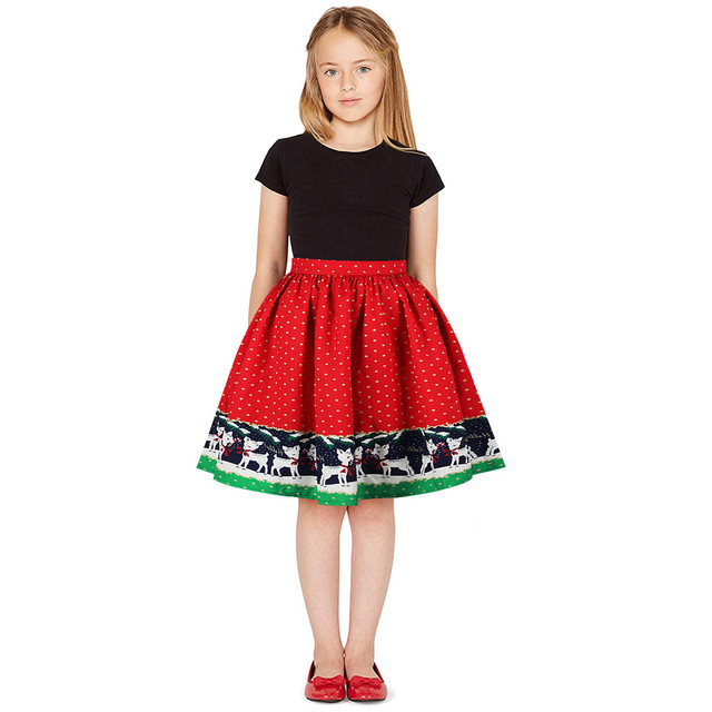 Christm Dress Teen Kids Girls 3d Print Christmas Xmas Princess Dress Clothes Outfits Knee Length Christmas Dress For Girls