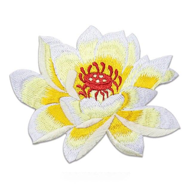 Фото аппликация для одежды lotus на заказ вышитая нашивка с цветами цена