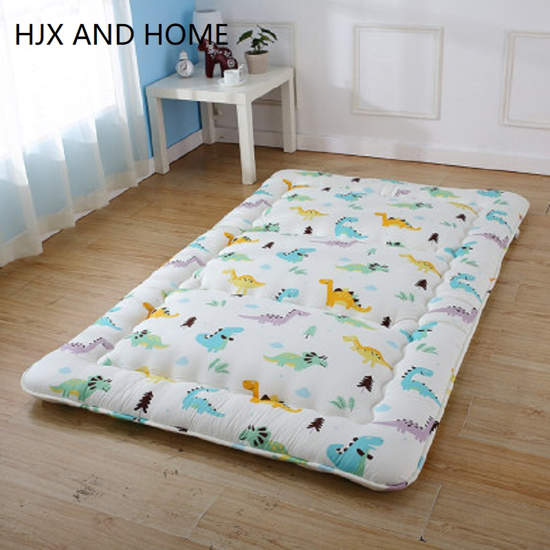 100% Cotton Cover Cartoon Mattress 6 -8cm Tatami Floor Mat Fashion Comfy Futon For Dorm/Home Thickened Use Sleeping Bed
