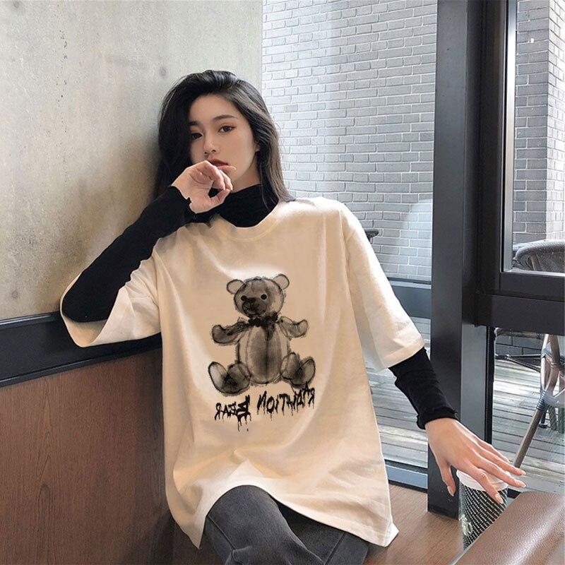 Лето 2021, белая футболка с коротким рукавом, женская модная Свободная рубашка в Корейском стиле, подходящая ко всему интернет-красная