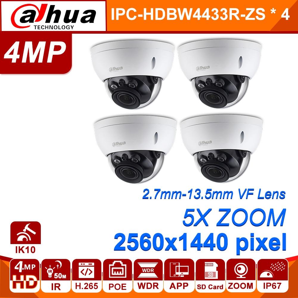 Dahua IPC-HDBW4433R-ZS 4MP Network IP Camera 2.7~13.5mm VF Lens 5X Zoom CCTV With 30M IR Range Starlight 4pcs/lot