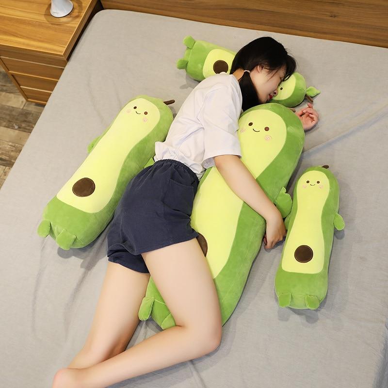 1 Pcs Avocado Toy Plush Food Pillow Kids Stuffed Avocado Plush Baby Toys For Children Adult Cute Fruit Creative Pillow Doll Gift