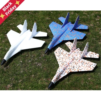Hand Throw Flying Glider Fighter Planes Foam Aeroplane Model Party Bag Fillers Flying Glider Plane For Kids Game DIY Kids Toys