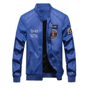 Image 3 - Winter Leather Jacket Men Motorcycle PU Leather Jackets 2020 New Mens Casual Fleece Warm Bomber Coat Male Slim Fit Windbreaker