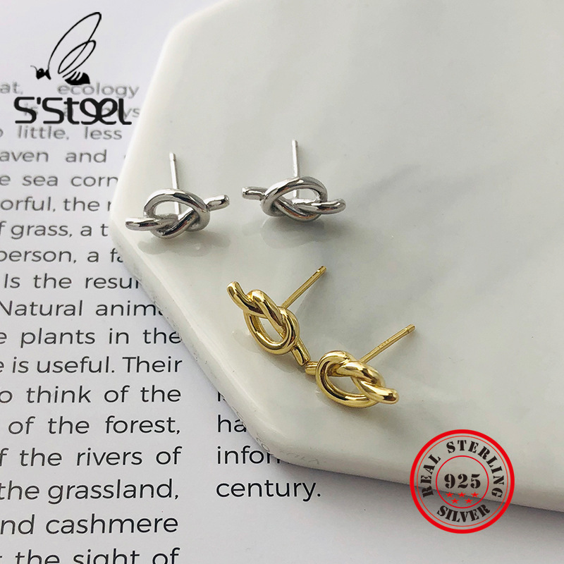 S'STEEL Stud Earrings For Women 925 Sterling Silver Earings Korean Minimalist Earring Statement Earing Aretes De Mujer Jewellery