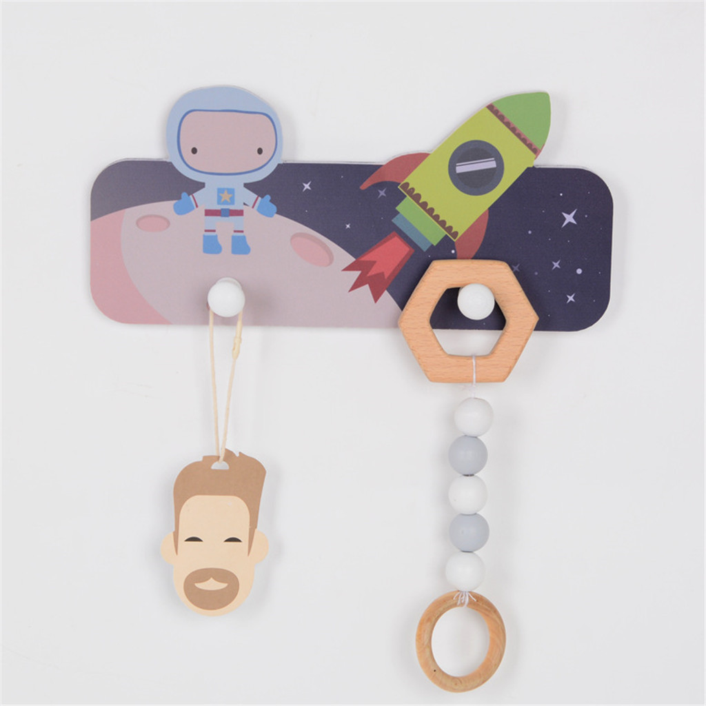 Creative Cute Astronaut Coat Storage Rack 2 Hooks Original Craft Cartoon Child Clothes Hat Key Scarf Hanger Wall Decorative #25