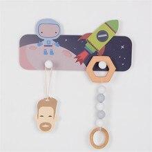 Kreative Nette Astronaut Mantel Lagerung Rack 2 Haken Original Handwerk Cartoon Kind Kleidung Hut Schlüssel Schal Aufhänger Wand Dekorative #25
