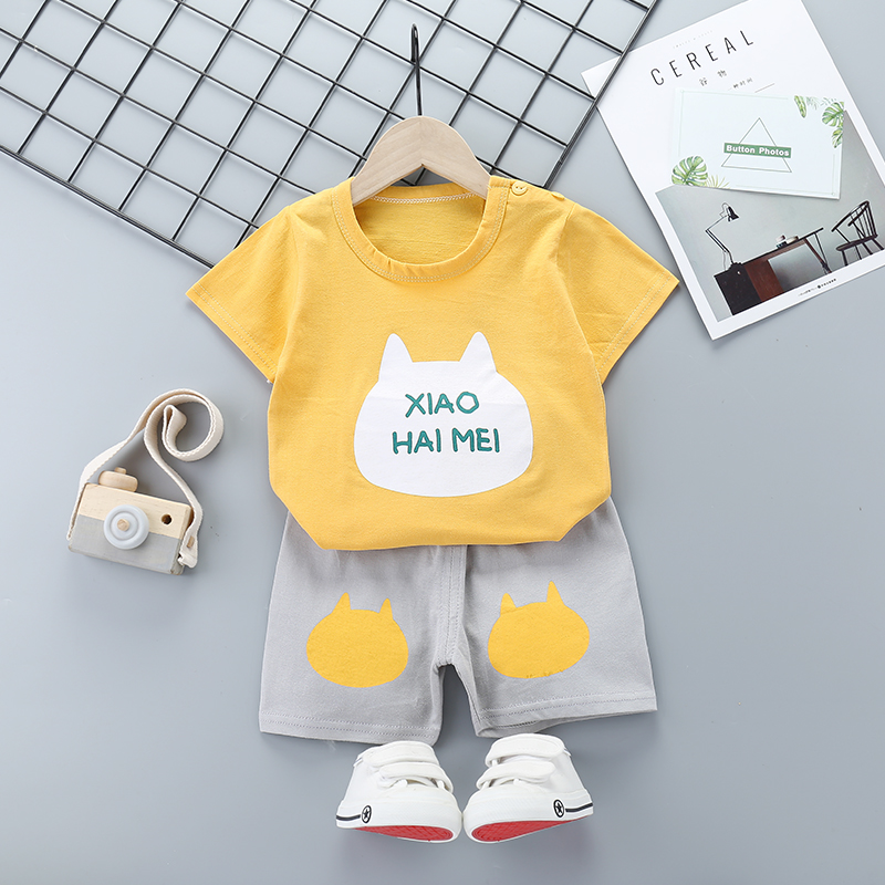 9M-6Y Kids Clothes for Girls The Shorts+Top Summer Suit Children's Clothing Sets Baby Toddler Set Girls Clothing Boys Clothes