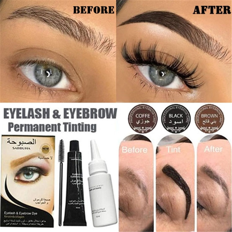 3 Color Microblading Eyebrow Tattoo Pen Brush Kit Waterproof Eyebrow Gel Tattoo Paint Makeup Henna Eyebrow Dye Cream With Brush