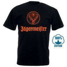 Jagermeister Немецкий Логотип Мужская черная футболка 100% хлопок