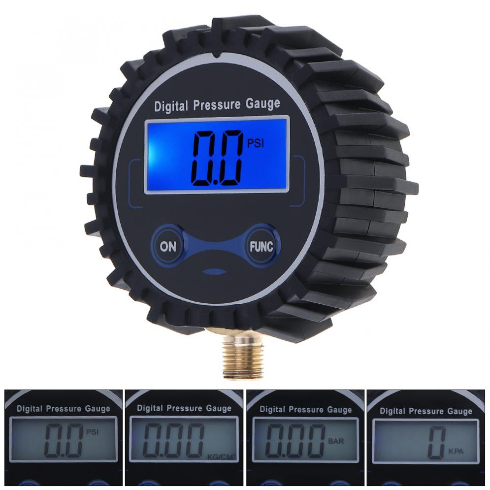 Electronic Digital Tyre Tire Pressure Gauge 0-230PSI Night Vision Metal Connector For Motorcycle Car Cycle Truck Tire