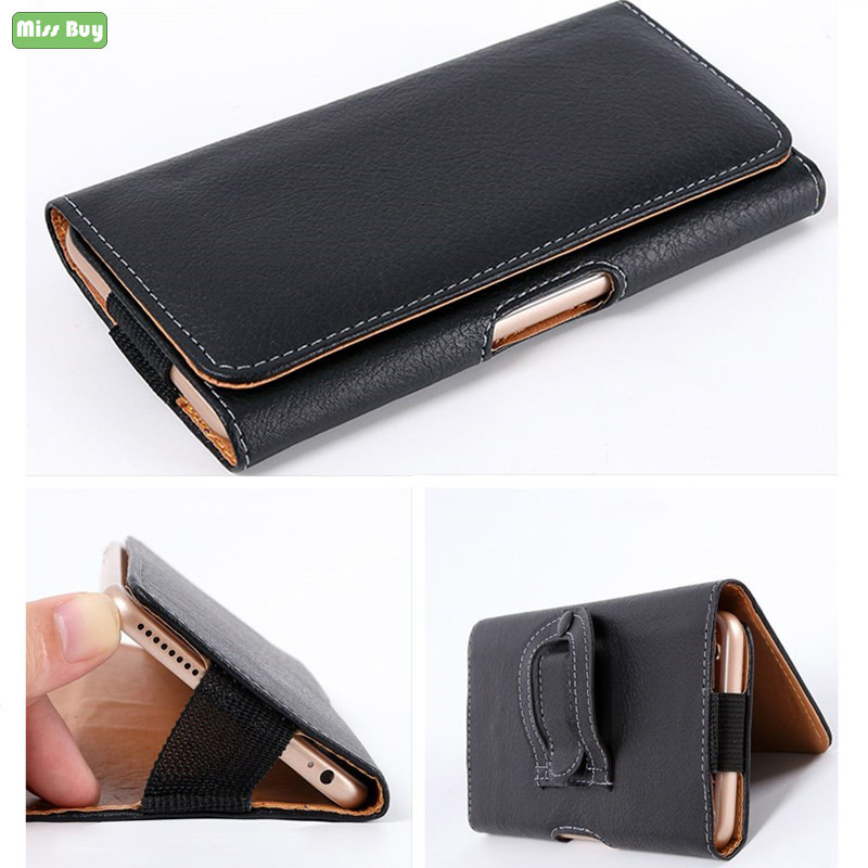 Universal Leather Phone Case Waist Cover For OPPO R15 R15S R11 R11S R9 R9S A5 A3 A1 A83 A77 A79 A73 F3 Belt Holster Bags Pouch image