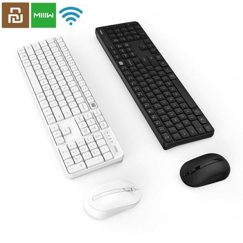 Оригинальная Беспроводная офисная мышь MIIIW RF 2,4 ГГц, набор из 104 клавиш для Xiaomi Windows PC Mac, совместимая Портативная USB клавиатура|Клавиатуры|   | АлиЭкспресс
