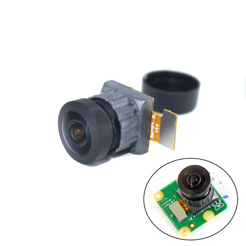 160° 8MP IMX219 Camera Module, Undistorted Lens Camera 8 Megapixel For Official Raspberry Pi Camera Board V2