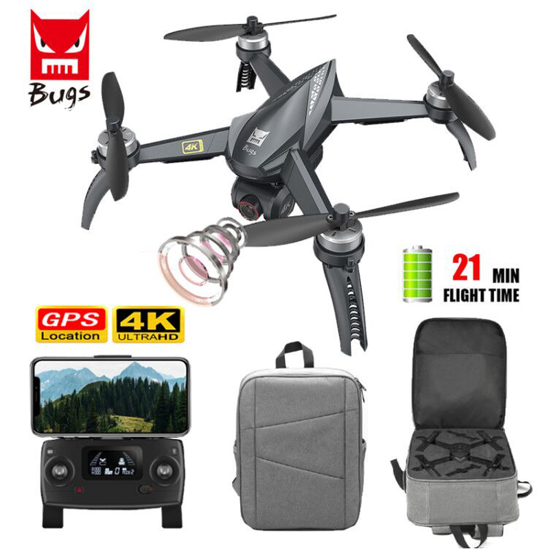 MJX Bugs 5w Drone 4k Gps 5G Wifi Brushless RC Dron Quadcopter FPV Camera Adjustable Gesture Photo Auto Return Professional Drone