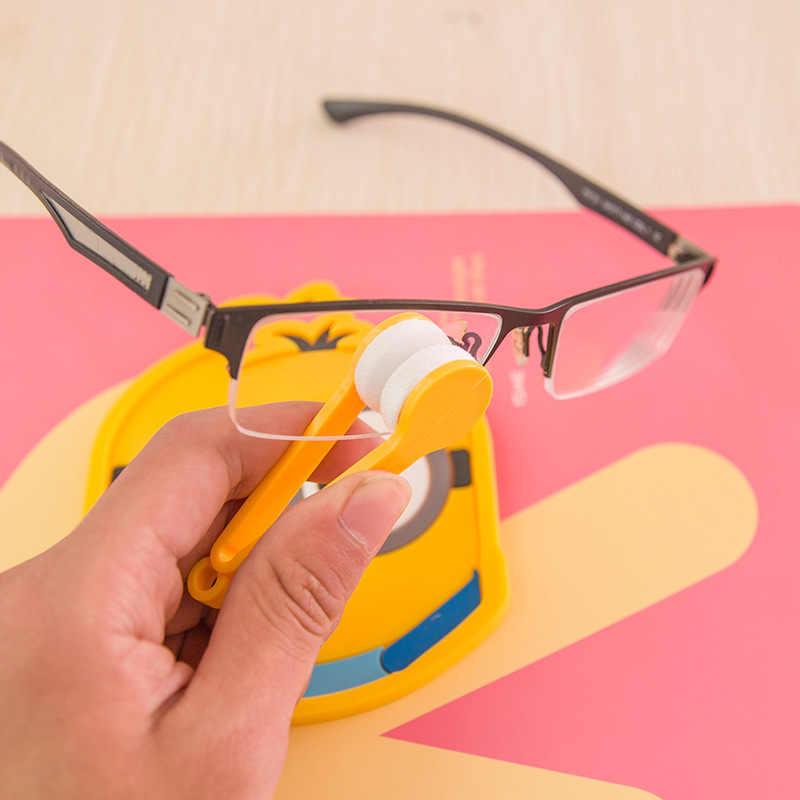 Mini ułatwiający czyszczenie okularów szczotka wycieraczka ściereczka czyszcząca okulary kreatywne przenośne okulary Cleaner okulary konserwacja gogle