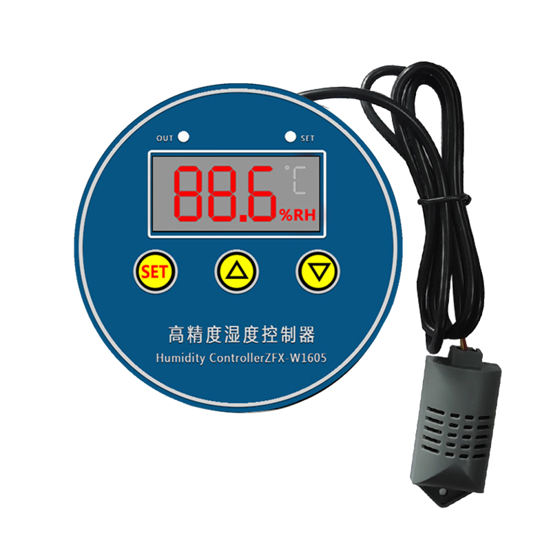 Digital Humidity Controller ZFX-W1605 220V Humidistat Hygrometer Humidity Control Switch Regulator + Humidity Sensor