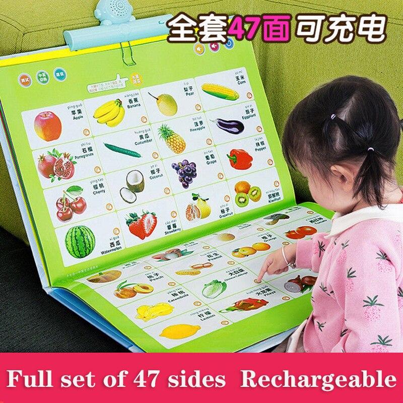 Детские аудиокниги с точками для чтения, аудиокниги, машина для раннего развития, Детские обучающие игрушки для обучения младенцу, точечное...