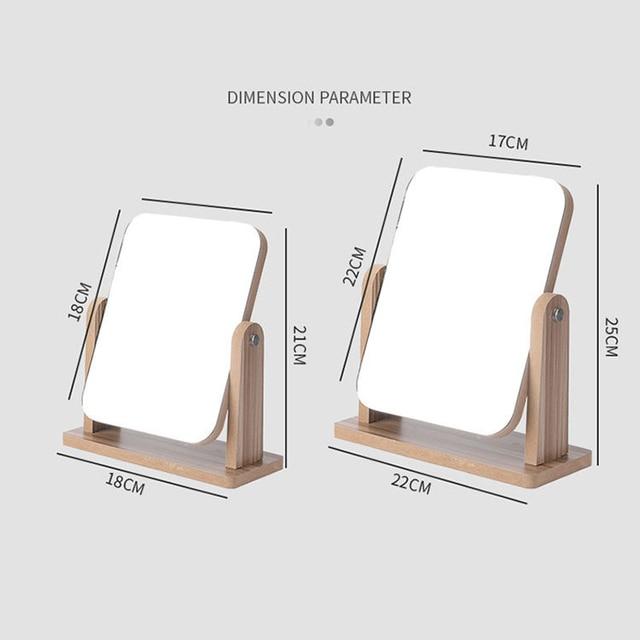 Portable Spin Assembly Makeup Mirror Screen Vanity Mirror Single Mirrors Desk Cheap Mirror Gift Cosmetic Espelho de maquiagem 2
