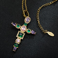 Ожерелье с подвеской в виде креста из нержавеющей стали