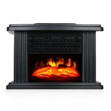 1000 Вт 220 В настольный мини электрический камин нагреватель Электрический с эффектом лога пламени теплый воздух нагреватель теплый маленький теплый воздух вентилятор