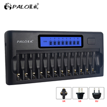 smart battery charger for ni mh rechargeable 9 volt aa aaa batteries 18650 2pcs 9v 300mah rechargeable batteries 12 solts Multiple smart charger LCD display for AA AAA rechargeable battery fast charging charger for ni-mh ni m 2A 3A batteries