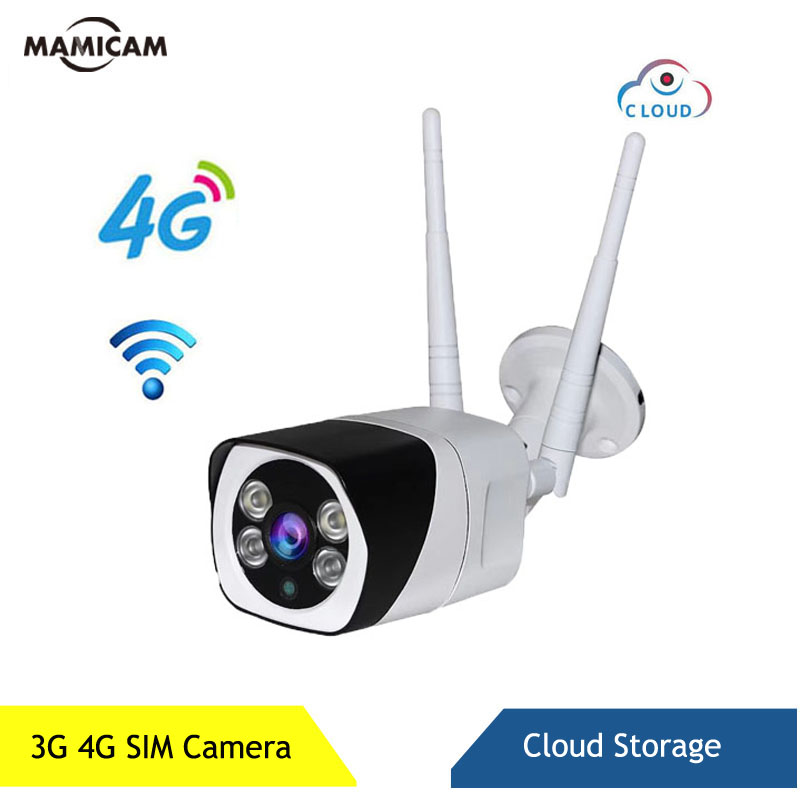GSM <font><b>3G</b></font> <font><b>4G</b></font> <font><b>SIM</b></font> <font><b>Card</b></font> <font><b>Camera</b></font> Outdoor Wireless WIFI IP CAM Waterproof CCTV <font><b>Camera</b></font> IR Night Vision P2P Cloud Storage image