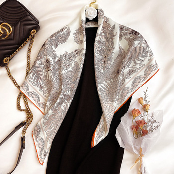 2020 Twill Silk Scarf Women Neck Headband Fashion Neckerchief Scarves Bandana Foulard Femme Hijab Pashmina Poncho Shawls 1