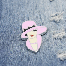 Personality trend mature female alloy brooch enamel needle mini badge bag clothes jewelry gifts to friends FXM