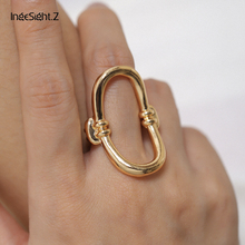 IngeSight.Z Punk Geometric Hollow Out Knuckle Midi Finger Rings Simple Gold Color Metal Stackable Rings for Women Jewelry Party