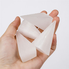 1pcs pyramid selenite chakra natural stones home decoration white crystal quartz healing energy