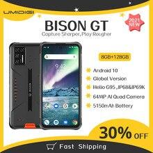 Umidigi bison gt 8gb + 128gb ip68/ip69k impermeável áspero telefone 33w carregador rápido 6.67