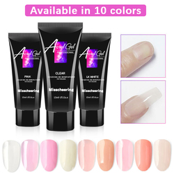 10 Colors Nail Extension Gel Nail Acrylic Gel Quick Extension Gel Nail Tip Form Gel Jelly Crystal Gel Crystal Glue Finger Nail