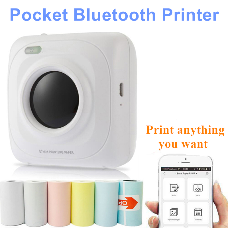 PAPERANG Portable Thermal Bluetooth Printer Mini Wireless Picture Photo Printer For Mobile Phone Android IOS