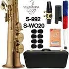 MFC Sopraansaxofoon S 992 S WO20 Goudlak Sax Sopraan Mondstuk Ligatuur Riet Hals Muziekinstrument Accessoires