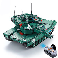1498PCS Building Blocks RC tank Military Model Bricks assembling building block toys technic Remote Control Car Christmas gift