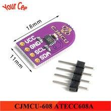 CJMCU-608 atecc608a criptografia senha chave de armazenamento número aleatório gerador de criptografia assinatura módulo de descriptografia iic i2c