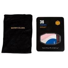 Новые 8 шт Твердые воды цвет с железной коробке для начинающих переносная Живопись принадлежности 36 цветов