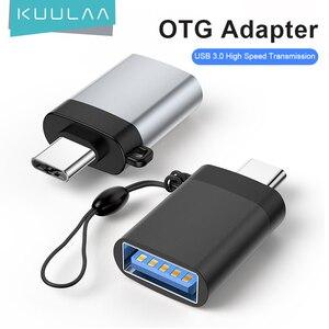 KUULAA USB C OTG Adapter Fast Type C to USB 3.0 Adapter for Macbook Pro Xiaomi mi 10 Mini USB Adapter Type-C OTG Cable Converter