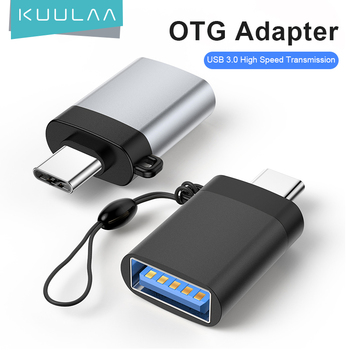 KUULAA USB C OTG Adapter Fast Type C to USB 3.0 Adapter for Macbook Pro Xiaomi mi 10 Mini USB Adapter Type-C OTG Cable Converter