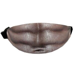 Мужская Толстая пивная сумка папы для живота, поддельная, пушистая, смешная, ПУ упаковка, телесный цвет, папа, сумка для денег, поясной карман...