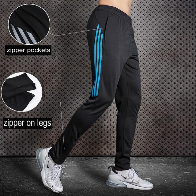 Мужские штаны для бега BINTUOSHI, футбольные тренировочные брюки с карманами на молнии, футбольные брюки для бега, штаны для фитнеса, спортивные ...